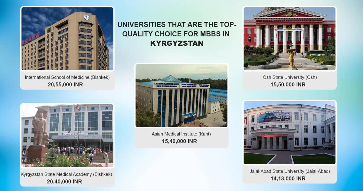 here is the quick info about Top mbbs univerities in Kyrgyzstan