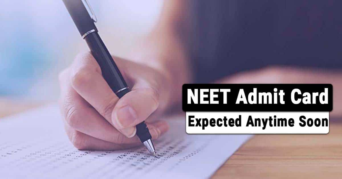 NEET 2021 Update: Admit Cards to be Expected soon